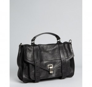 Proenza Schouler black leather 'PS 1' large satchel