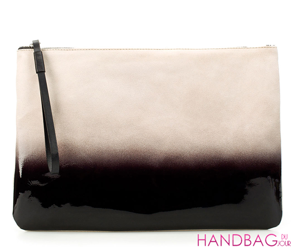 Zara Suede Graduated Color Clutch