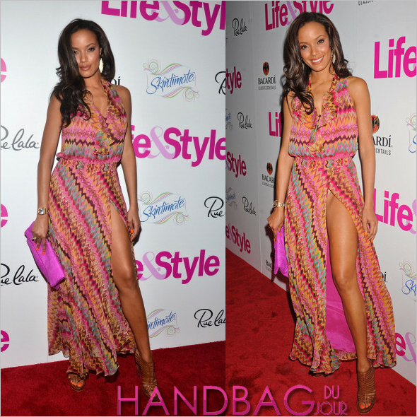 Selita Ebanks at the Life & Style magazine 'A Summer Of Style' event at Dream Downtown in New York with Nnomae Grace Clutch