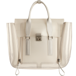 3.1 Phillip Lim Clear Pashli Satchel milk front view