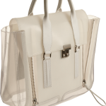 3.1 Phillip Lim Clear Pashli Satchel milk side view