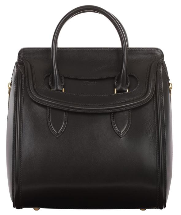 Alexander McQueen Black Calfskin Medium Heroine bag