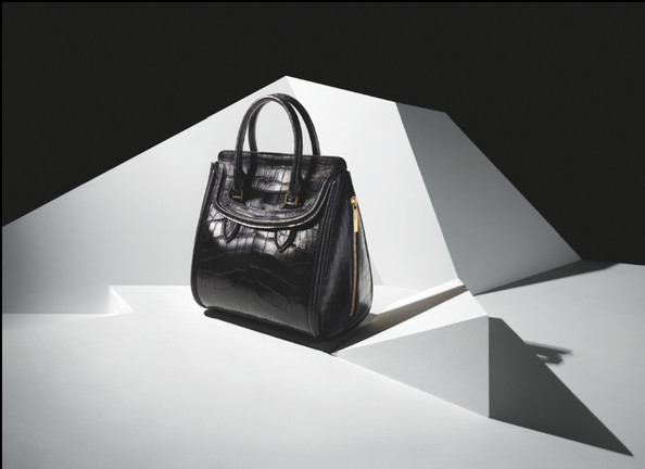Alexander McQueen accessories campaign for the Heroine Satchel.