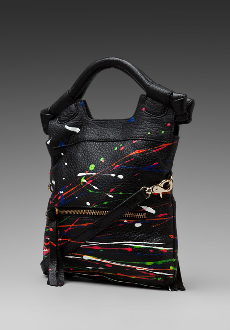 Revolve Clothing exclusive: Foley + Corinna Splatter Disco City Tote in Black/Multi