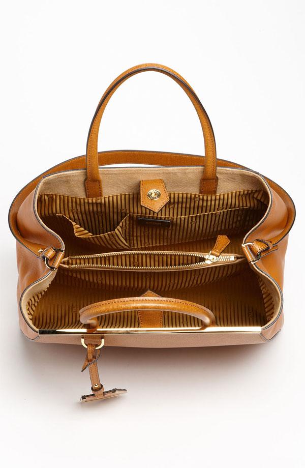 Fendi '2Jours Elite' Leather Shopper inside