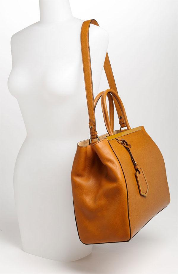Fendi '2Jours Elite' Leather Shopper on shoulder