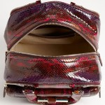 Jimmy Choo 'Justine - Small' Genuine Python Satchel inside