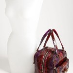 Jimmy Choo 'Justine - Small' Genuine Python Satchel next to mannequin
