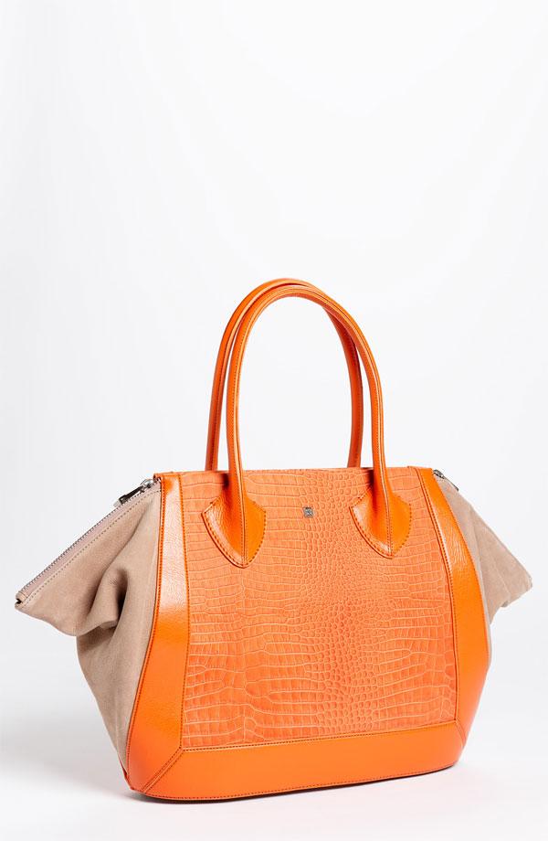 Pour la Victoire 'Prado Medium' Tote orange croc