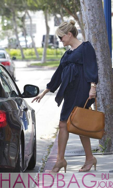 Reese Witherspoon with her honey Fendi '2Jours Elite' Leather Shopper