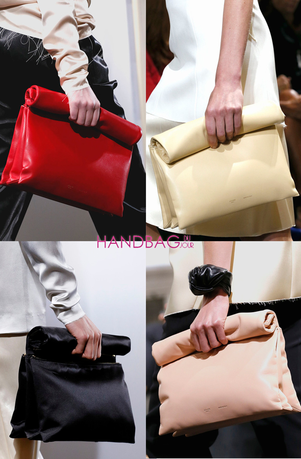 The new C¨¦line \u0026#39;It\u0026#39; bag: rolled leather and satin \u0026#39;lunch\u0026#39; bags, as ...
