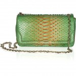 Christian Louboutin 20th Anniversary Artemis Plumes python shoulder bag front view
