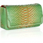 Christian Louboutin 20th Anniversary Artemis Plumes python shoulder bag side view