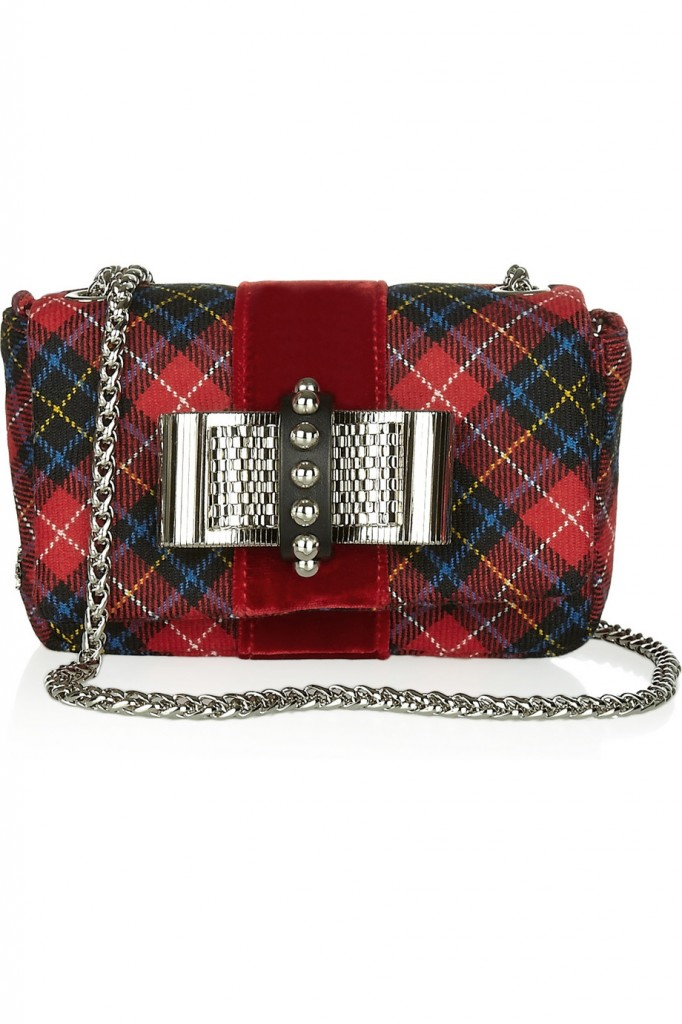 Christian Louboutin Sweety Charity bow-embellished tartan shoulder bag