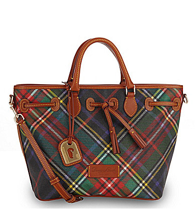 Dooney & Bourke Plaid East/West Shopper Bag
