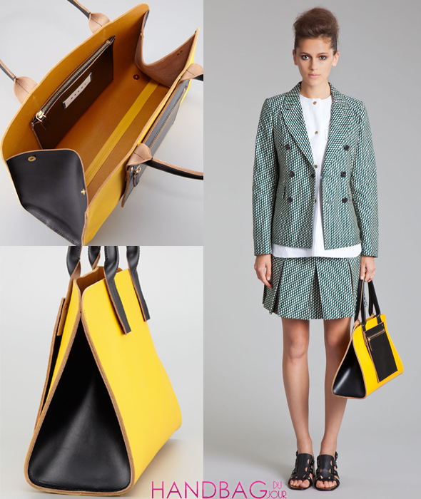 Marni Colorblock Shopping Bag - on model