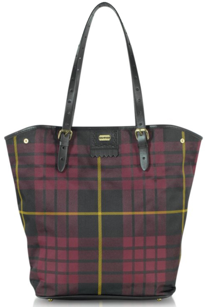 McQ Alexander McQueen Plaid North South Canvas Tote