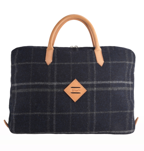 Shipley & Halmos Plaid Messenger Bag