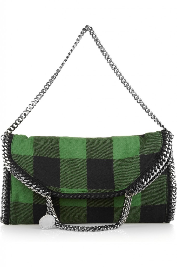 Stella McCartney Falabella covertible wool plaid shoulder bag