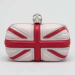 Alexander McQueen Leather Britannia Box Clutch Bag