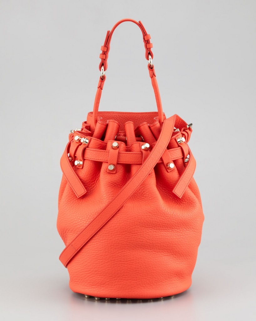Alexander Wang Diego Drawstring Bucket Bag, Tang