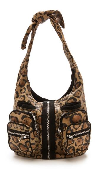 Alexander Wang Donna Hobo Bag, leopard print