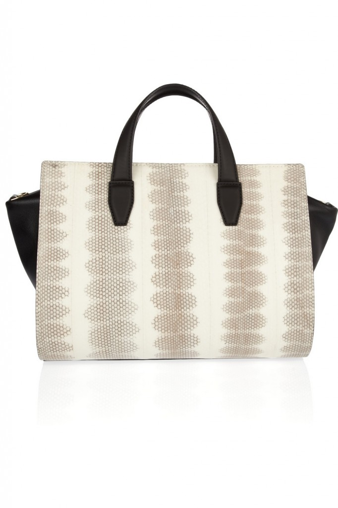 Alexander Wang Pelican leather and snakeskin tote