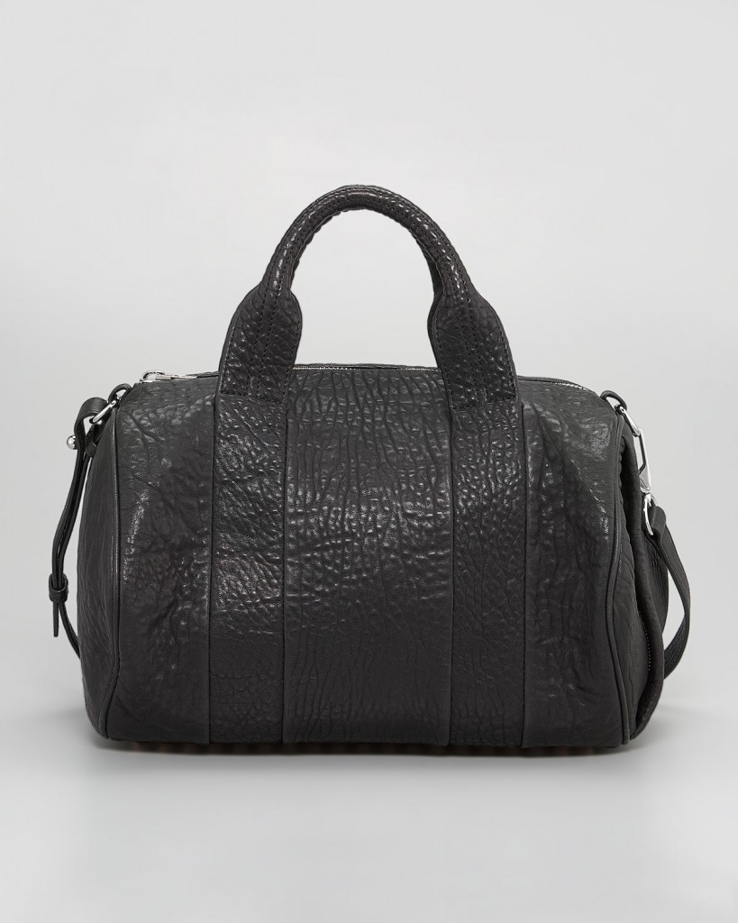 Alexander Wang Rocco Stud-Bottom Satchel Duffel Bag, Black Nickel
