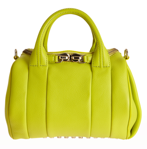 Alexander Wang Rockie duffel in neon yellow