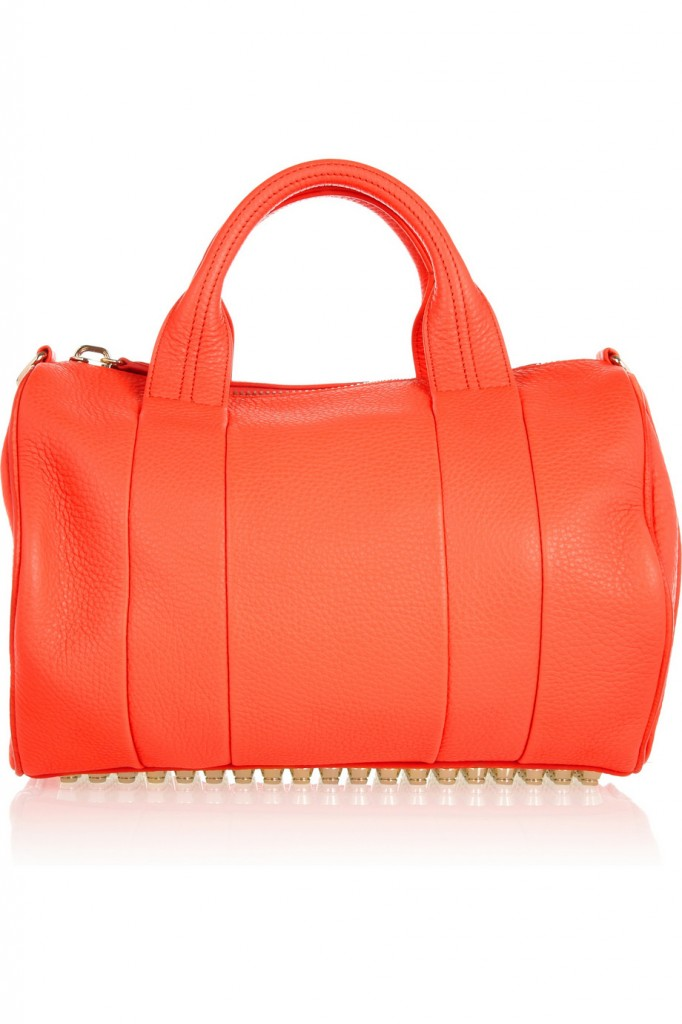 Alexander Wang The Rocco textured-leather bag, neon orange