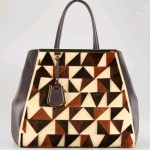 Fendi 2Jours Cut-Velvet Pattern Leather Tote Bag