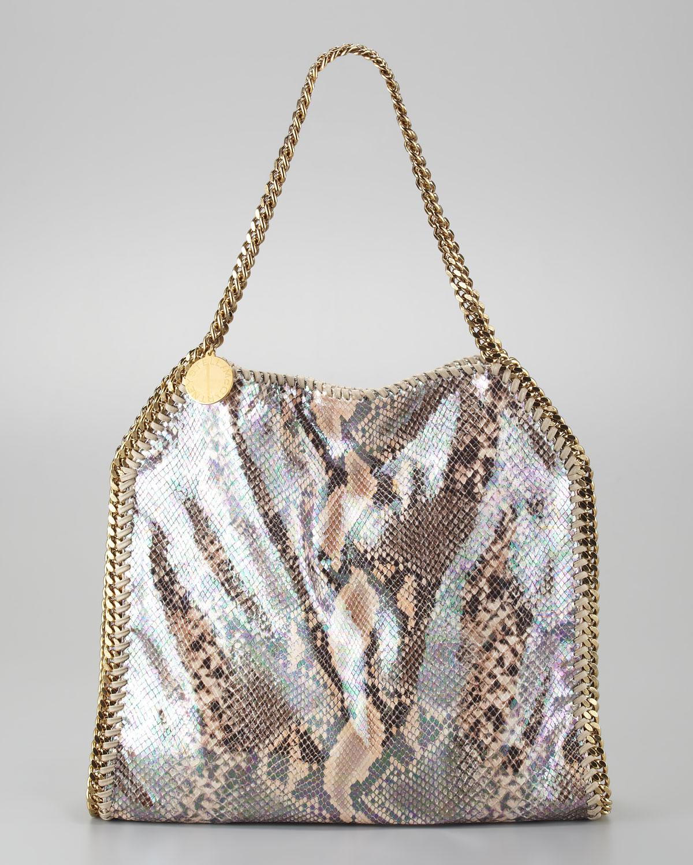 0a9c8f9a499a Stella McCartney Baby Bella Faux Python Tote Bag - Handbag du Jour ...