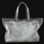 V73 bag in Struzzo gray - back