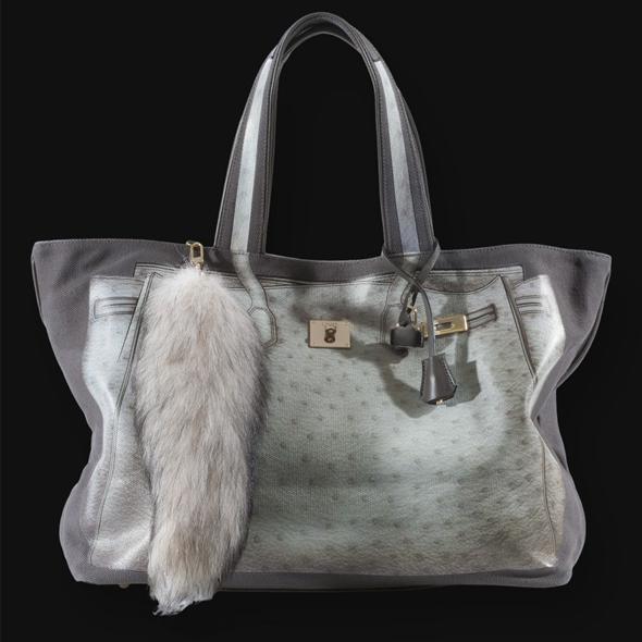 V73 bag in Struzzo gray