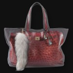 V73 bag in Struzzo red
