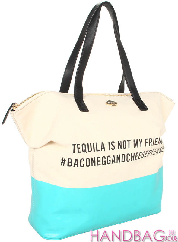 Kate Spade New York Tequila Is Not My Friend Terry tote bag