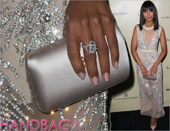 Kerry Washington Prada clutch at the 70th annual Golden Globe Awards 2013