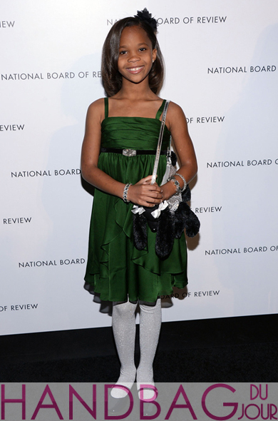 Quvenzhané Wallis stuffed Poochie dog handbag National Board of Review awards