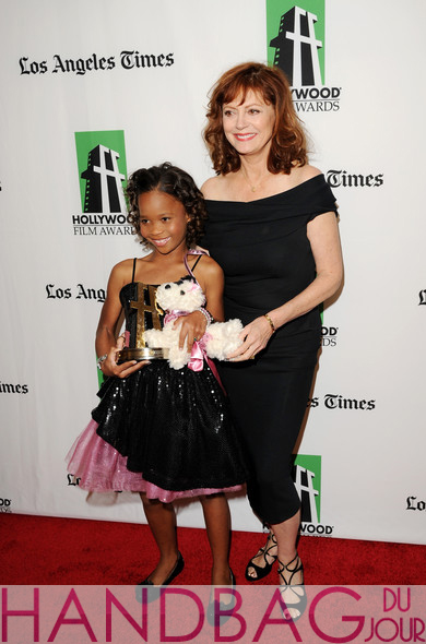 Quvenzhané Wallis stuffed Poochie dog handbag - with Susan-Sarandon