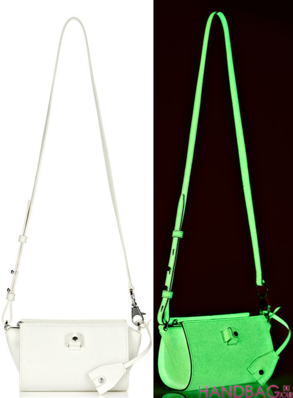 Alexander Wang GLOW IN THE DARK PELICAN SLING WITH RHODIUM