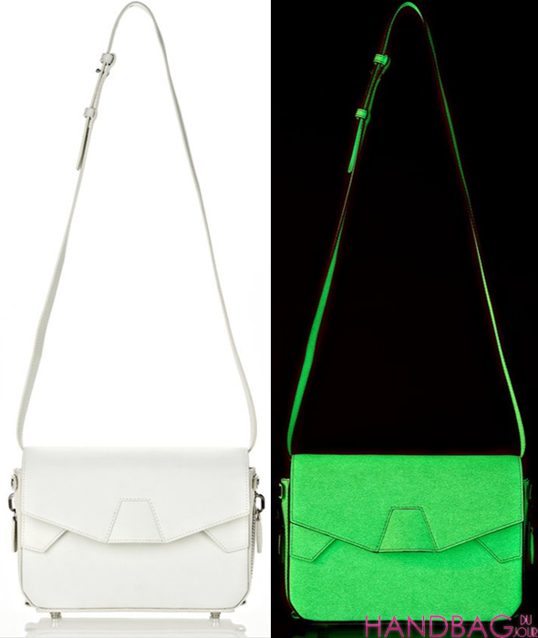 Alexander Wang GLOW IN THE DARK TRI-FOLD BAG WITH RHODIUM