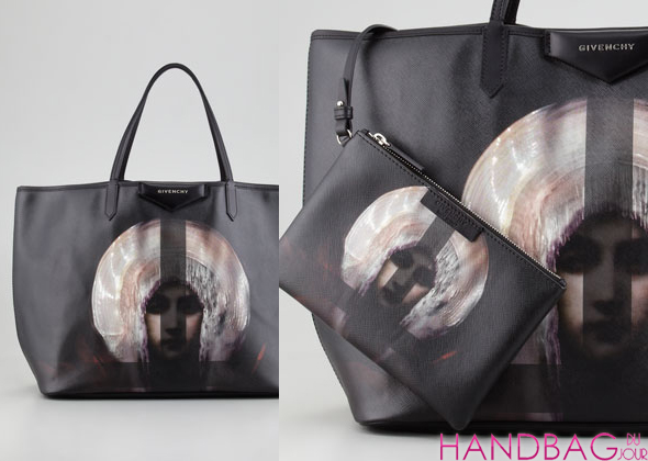 Givenchy Antigona Madonna-Print Large Shopper Bag - closeup