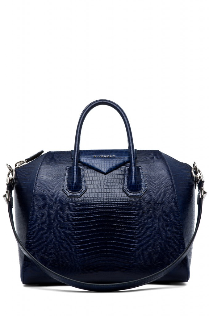 Givenchy Antigona Medium Stamped Tejus in Dark Blue