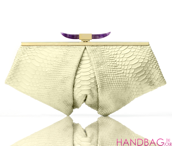 Jalan Sahba Ophelia bag - Imperial yellow with amethyst