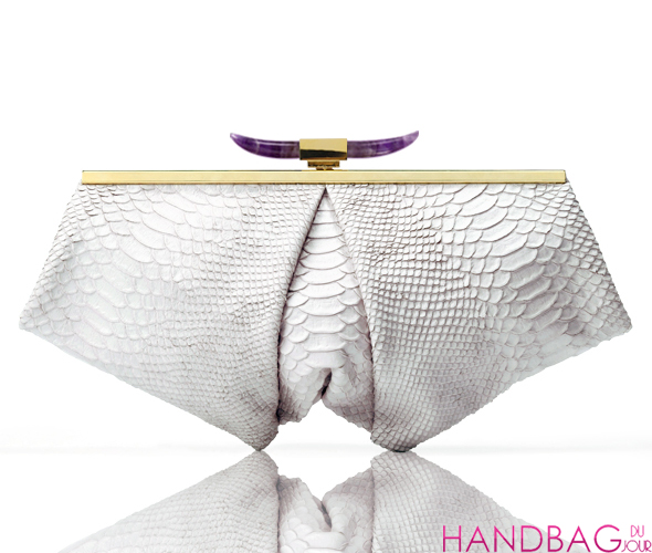 Jalan Sahba Ophelia bag - Persian white with amethyst