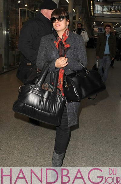 Lily Allen Saint Laurent Duffle & Chanel bag