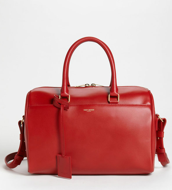Saint Laurent Duffle Rouge red