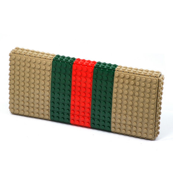 Tribute to Gucci - clutch made entirely of LEGO bricks back