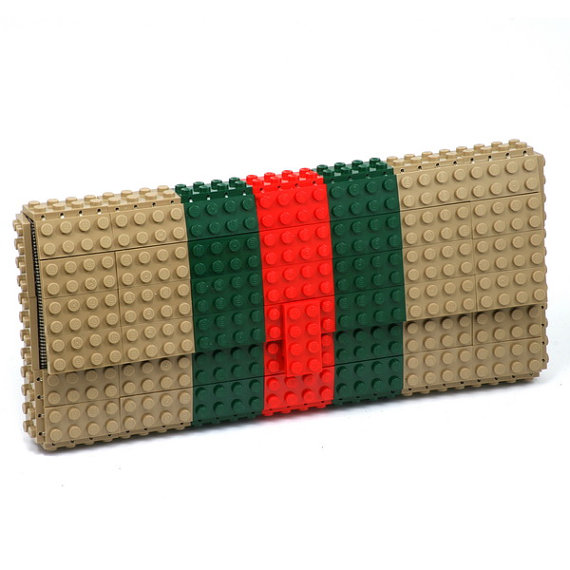 Tribute to Gucci - clutch made entirely of LEGO bricks