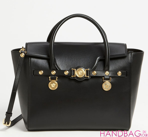 Versace 'Classic' Leather Satchel